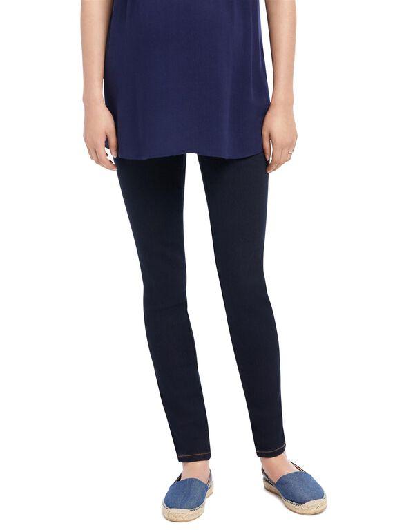 Indigo Blue Petite Skinny Leg Maternity Jeans, Rinse