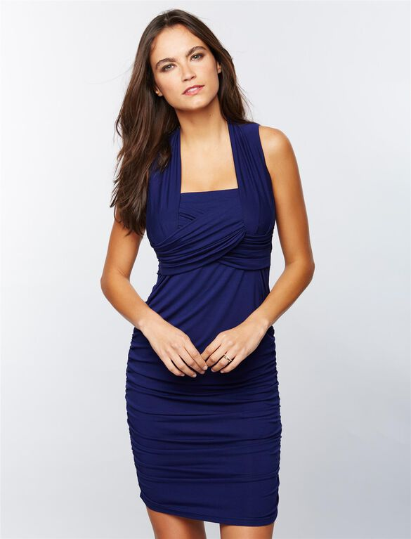 Ripe Lift Up Nursing Dress, Navy