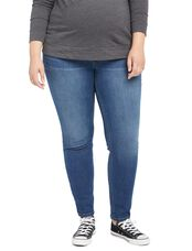 Plus Size Secret Fit Belly Skinny Leg Maternity Jeans, Medium Lake Wash