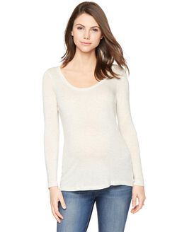 Splendid Maternity T Shirt, Soft White