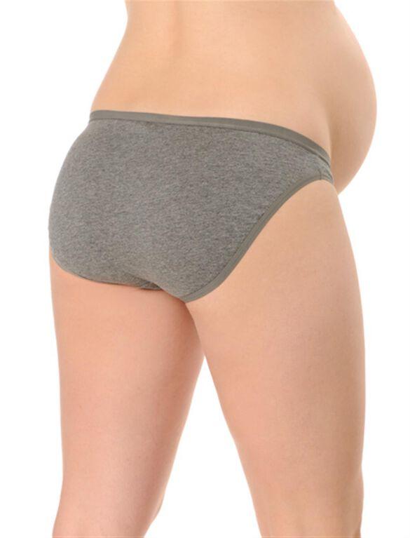 Maternity Bikini Panties (3 Pack), Black/White/Grey