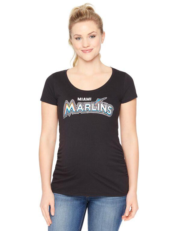 Florida Marlins MLB Short Sleeve Maternity Tee, Marlins