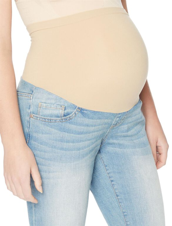 Secret Fit Belly Cuffed Crop Maternity Jeans, Light Wash