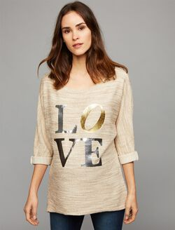 Pietro Brunelli LOVE Maternity Sweatshirt, Grey