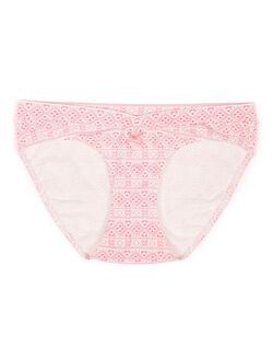 Bow Detail Hipster Maternity Panty (single), Holiday Print