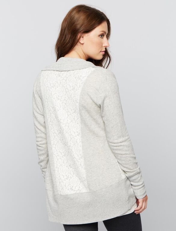 Cocoon Maternity Cardigan, Light-mid Grey