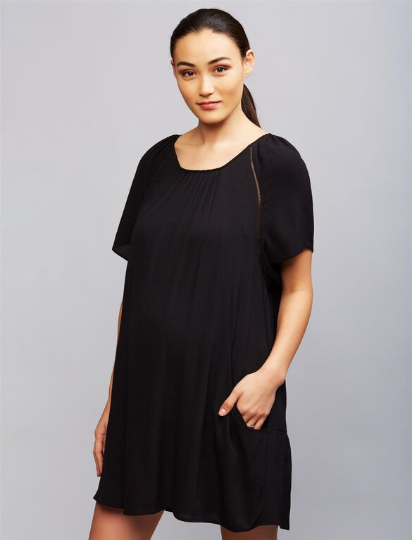 Soon Arianna Maternity Dress, Black