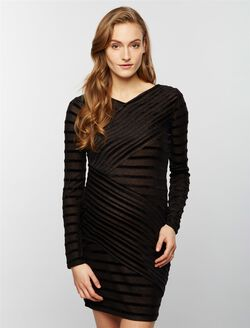 BCBGMAXAZRIA Straight Fit Maternity Dress, Black