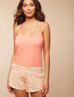 Relaxed Fit Maternity Sleep Shorts- Pineapple, Pineapple Print