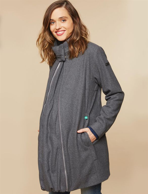 Modern Eternity 3 In 1 Wool Blend Maternity Coat, Grey