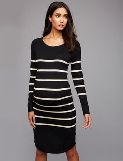 Ripe Striped Maternity Sweater Dress, Stripe