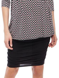 Secret Fit Belly Side Ruched Maternity Skirt, Black