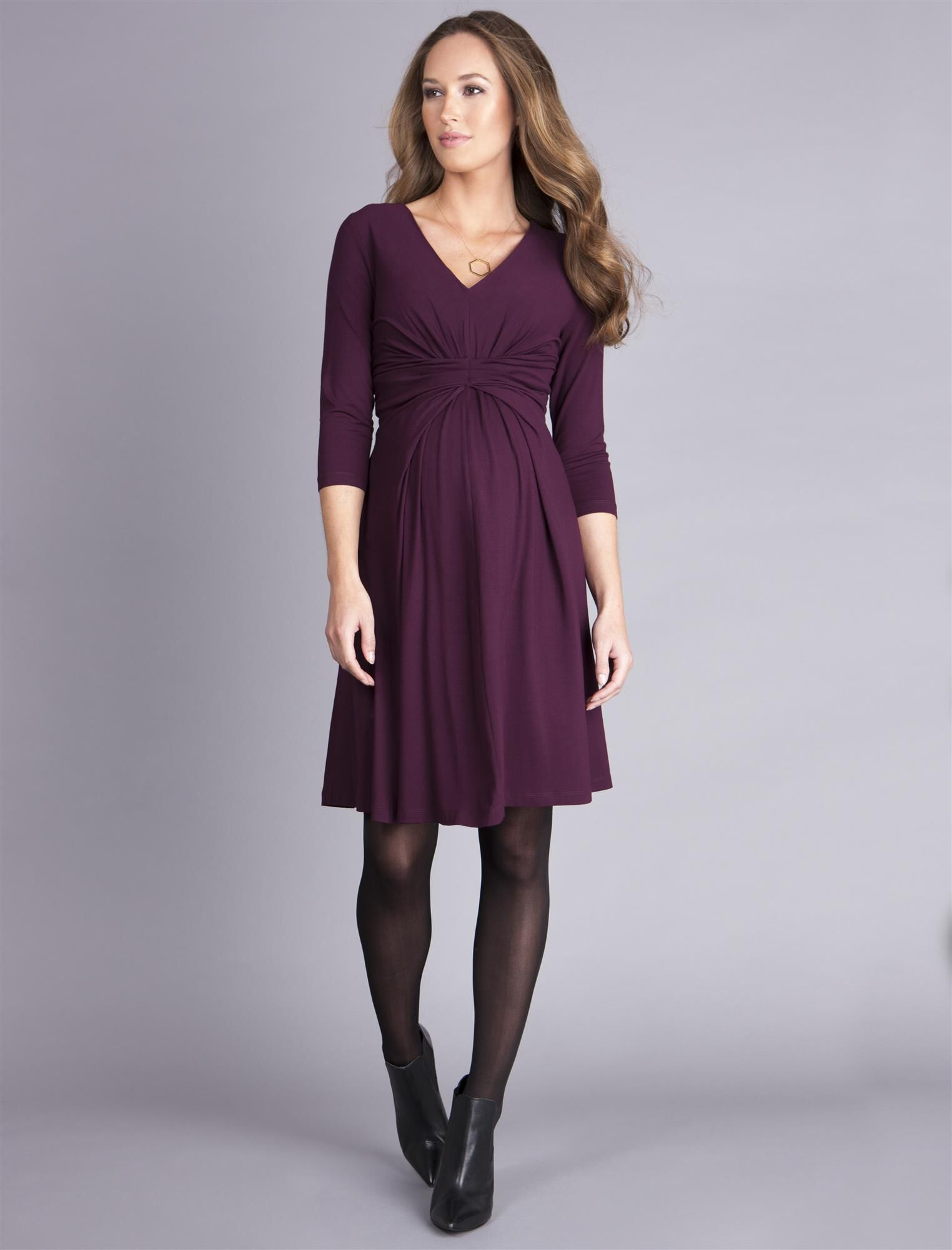 Seraphine Empire Detail Maternity Dress