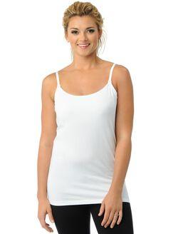 Clip Down Nursing Cami- White, White