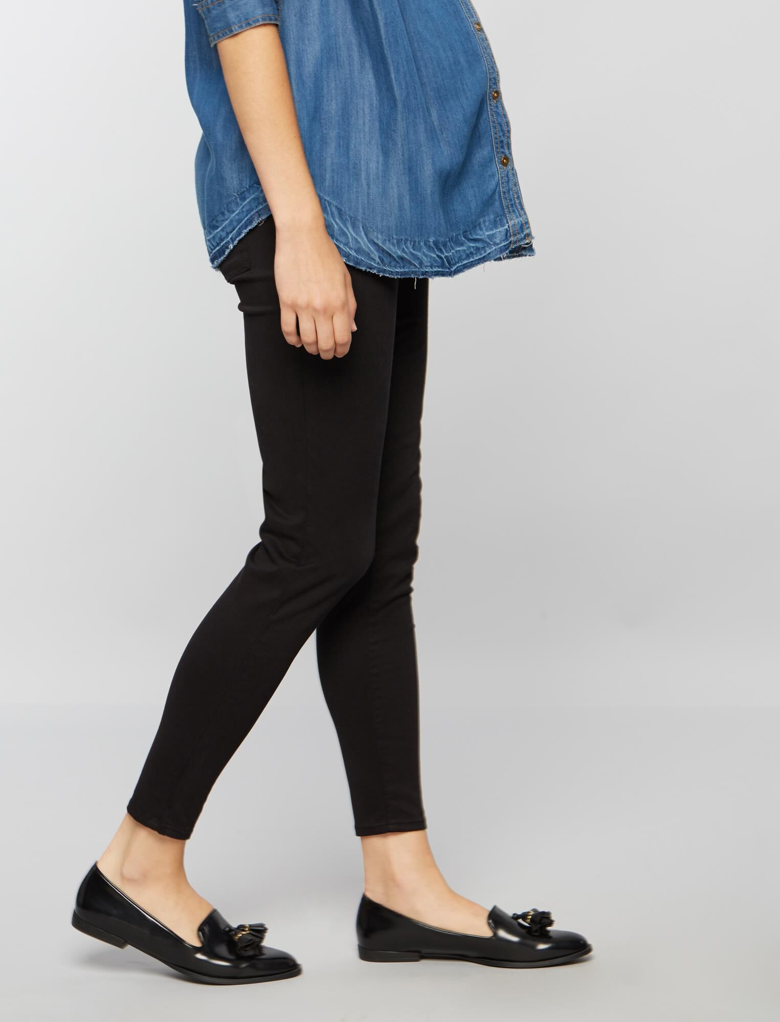Secret Fit Belly Sateen Skinny Ankle Maternity Pants