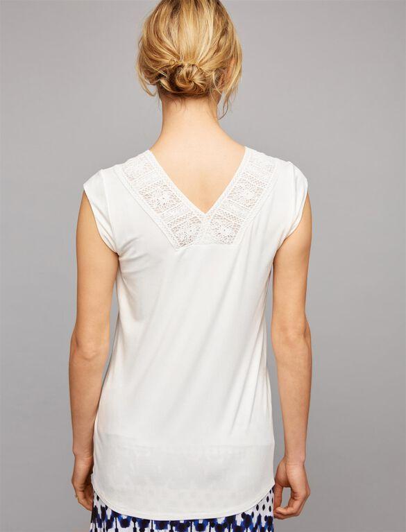 Daniel Rainn Lace Maternity Top, Soft White