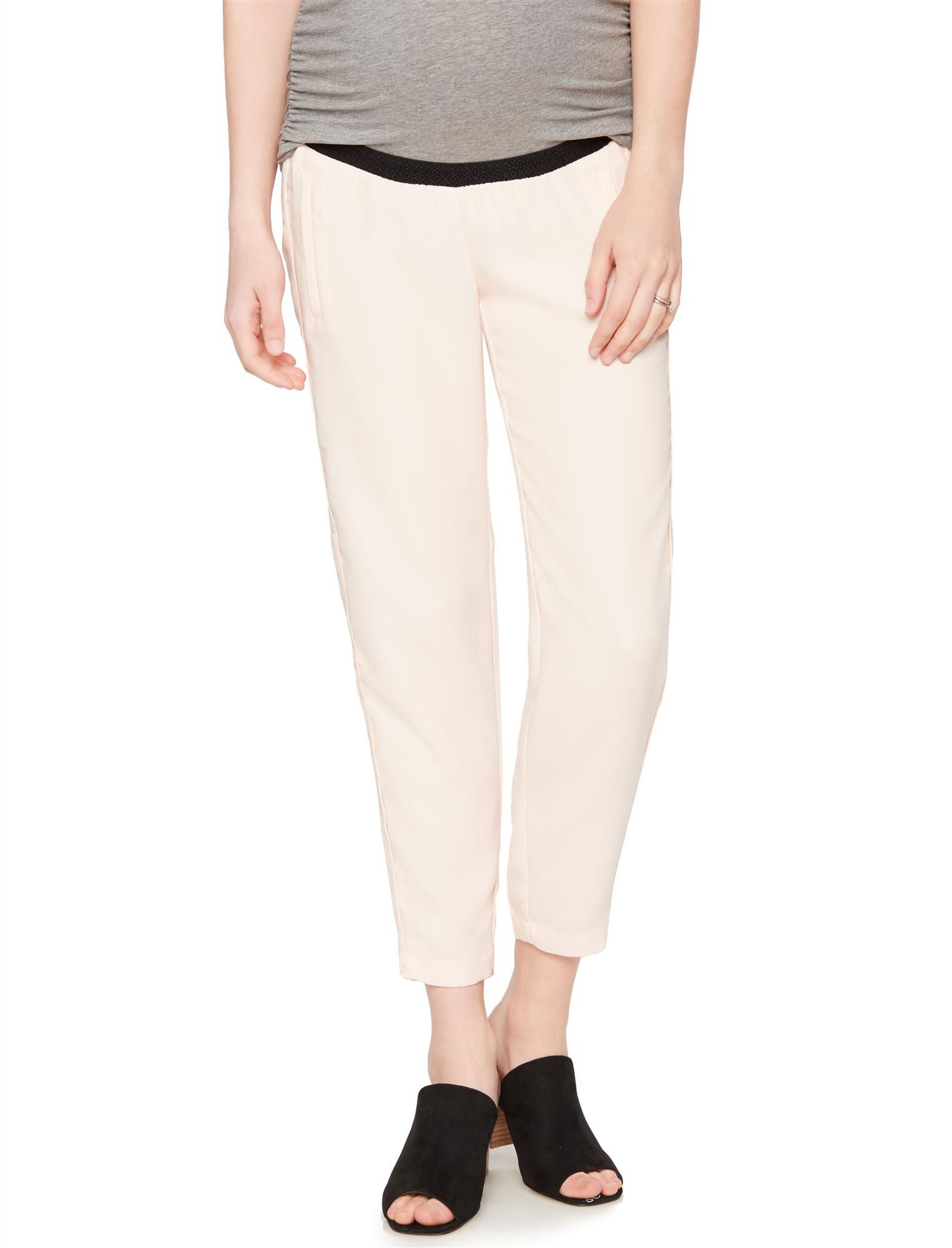 Under Belly Crepe Skinny Leg Maternity Pants