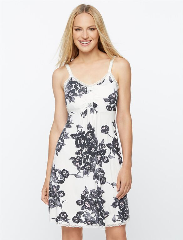 Nursing Nightgown, Floral