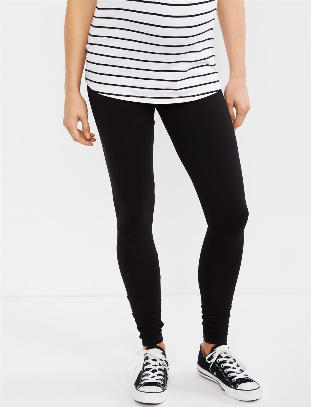 Secret Fit Belly Ruched Maternity Leggings at Motherhood Maternity in Victor, NY | Tuggl