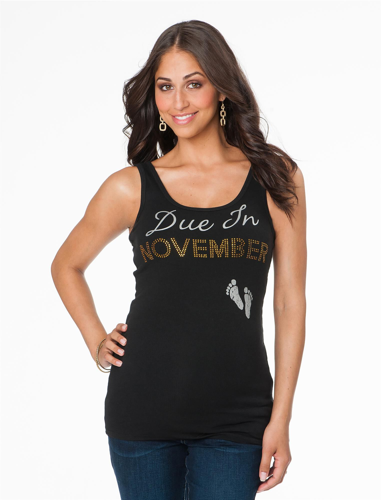 Due In November Maternity Tank Top