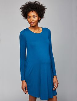 A-line Maternity Dress, Blue