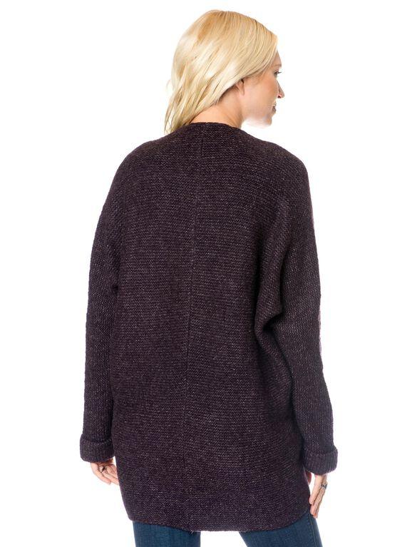High-low Hem Maternity Sweater, Eggplant