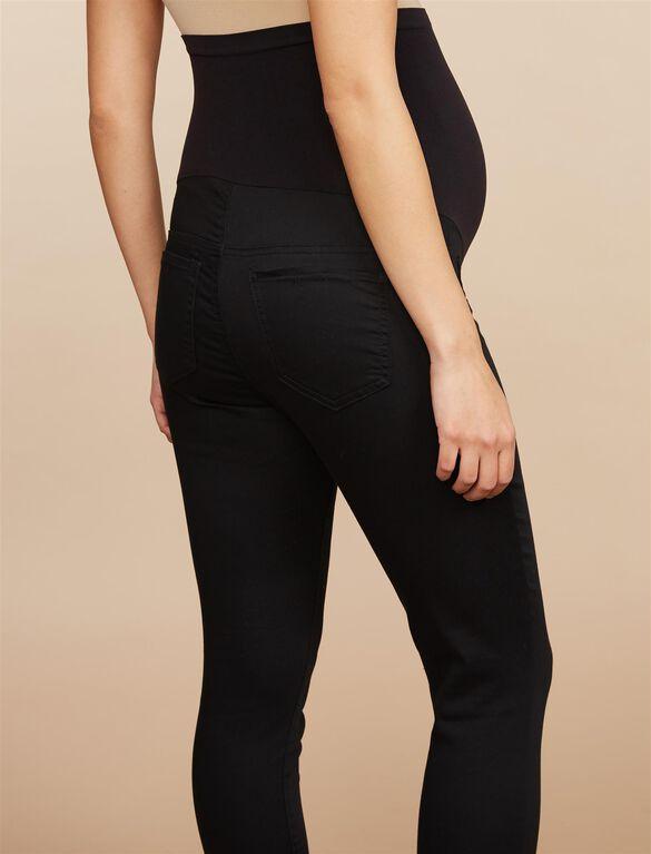 Petite Secret Fit Belly Skinny Maternity Pants, Black