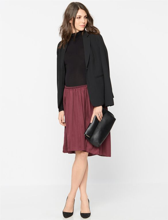 Under Belly Crinkle Maternity Skirt, Dusty Plum