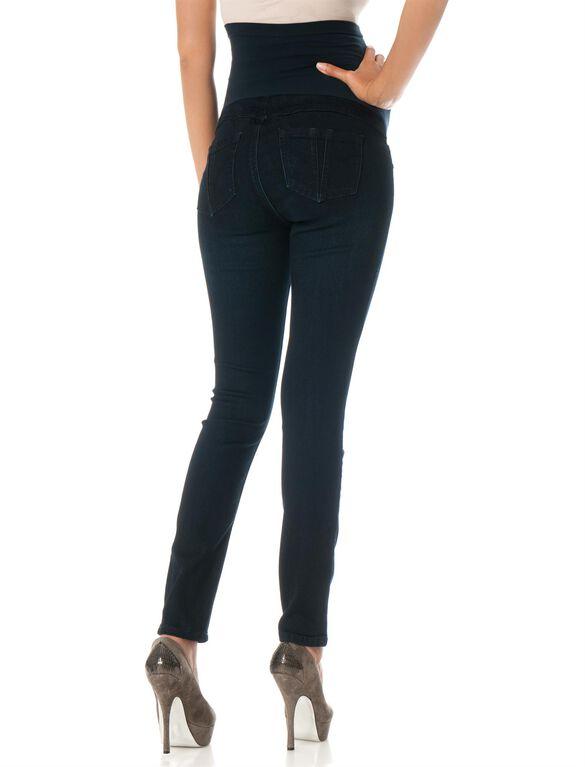 Fade To Blue Petite Secret Fit Belly Skinny Leg Maternity Jeans, Dark Wash