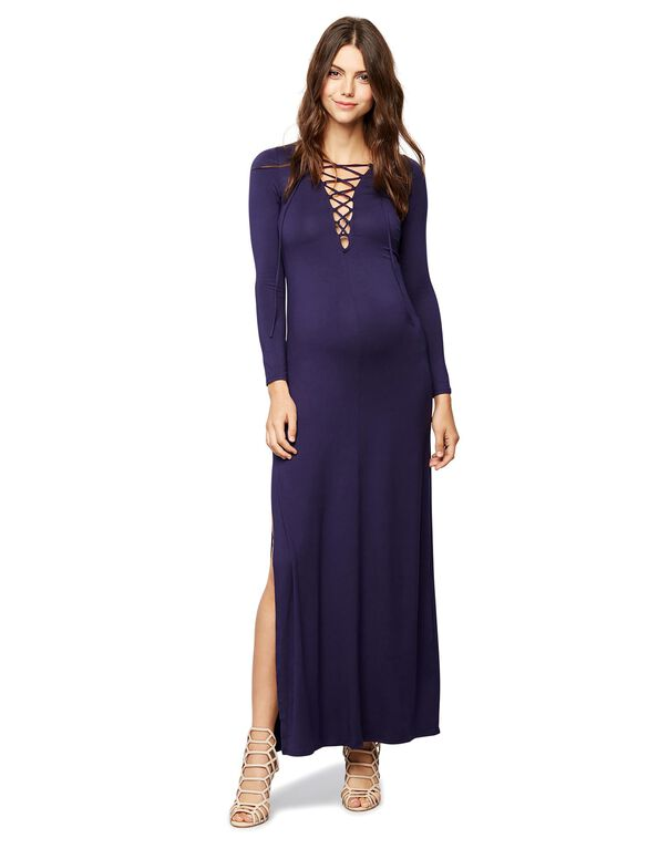 Rachel Pally Tie Front Maternity Dress, Navy