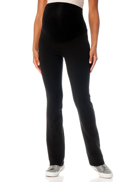 Secret Fit Belly Maternity Yoga Pants, Black