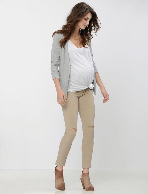 Maternity Blazer, Heather Grey