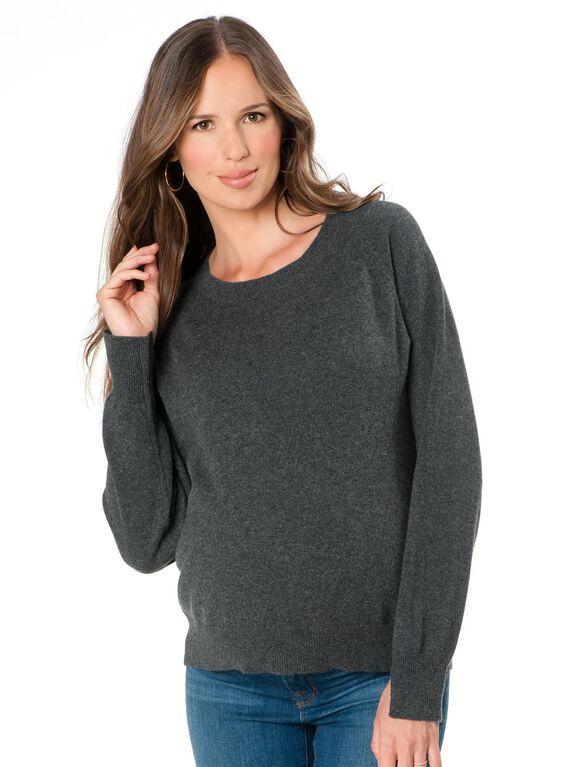 Maternity Sweater, Grey