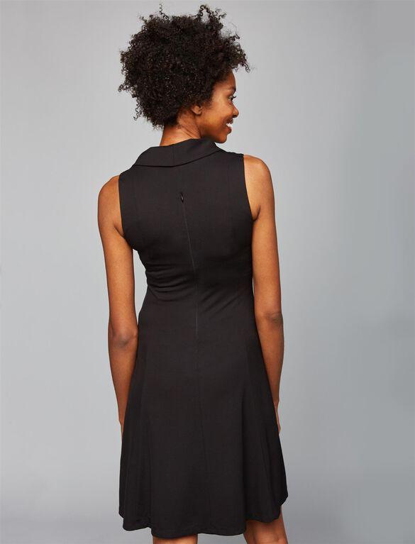Taylor Drape Neck Maternity Dress, Black