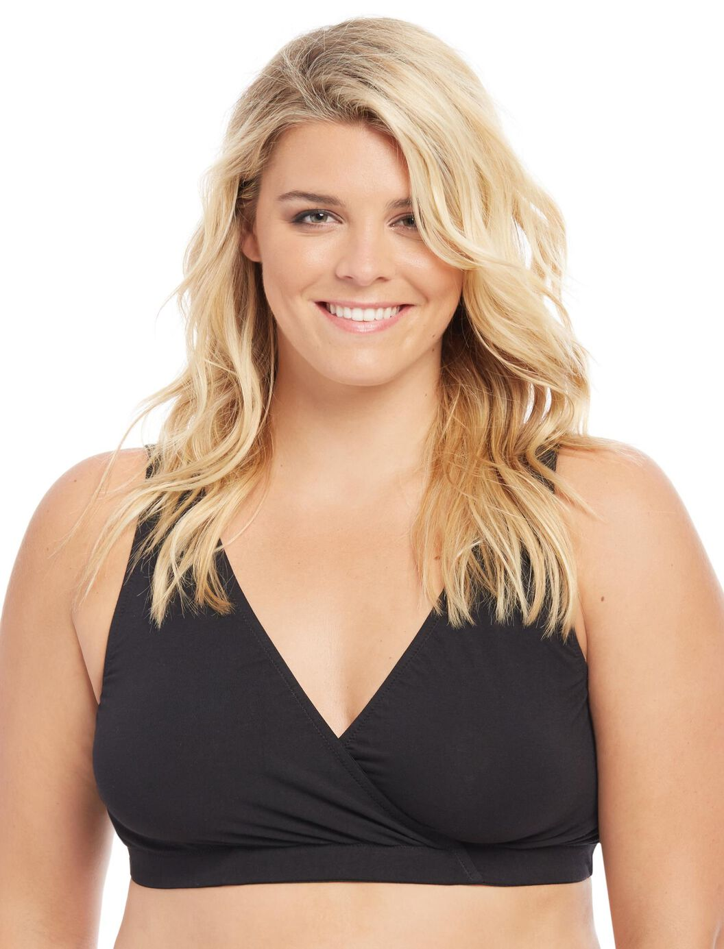 Plus Size Wrap Nursing Sleep Bra at Motherhood Maternity in Victor, NY | Tuggl