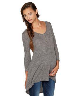High-low Hem Maternity Tunic, Medium Grey