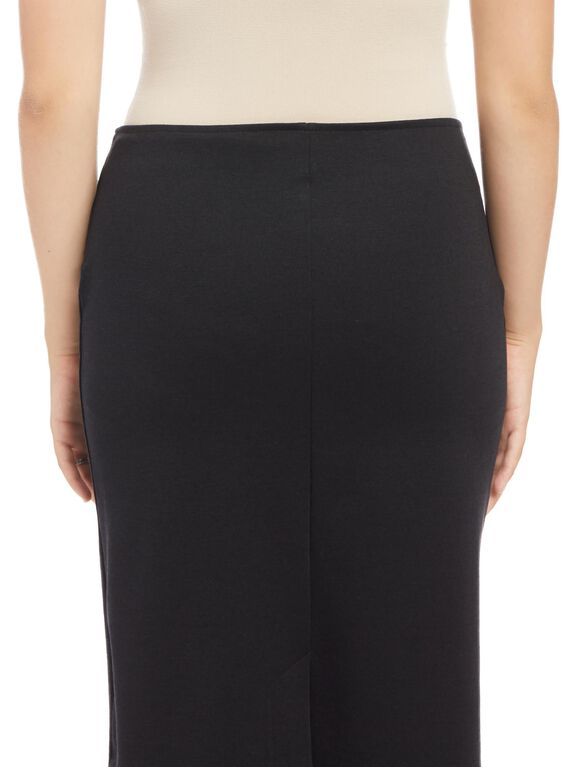 Under Belly Pencil Fit Maternity Skirt, Synthetic Black