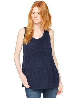 Hacci Knit Maternity Tank, Navy