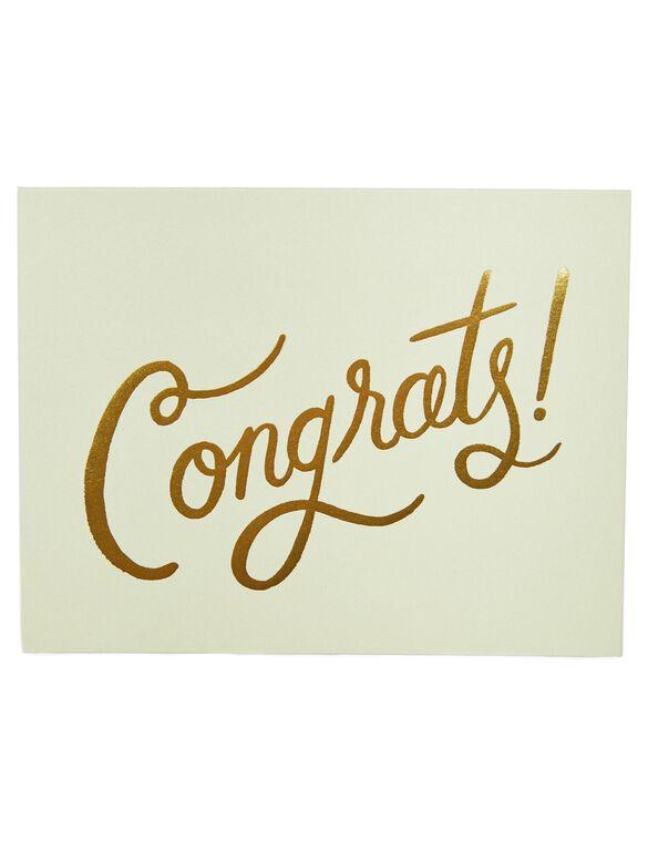 Congrats Card, CONGRATS