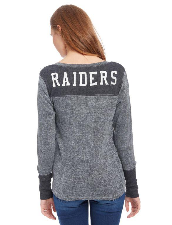 Oakland Raiders NFL Long Sleeve Maternity Graphic Tee, Raiders Black