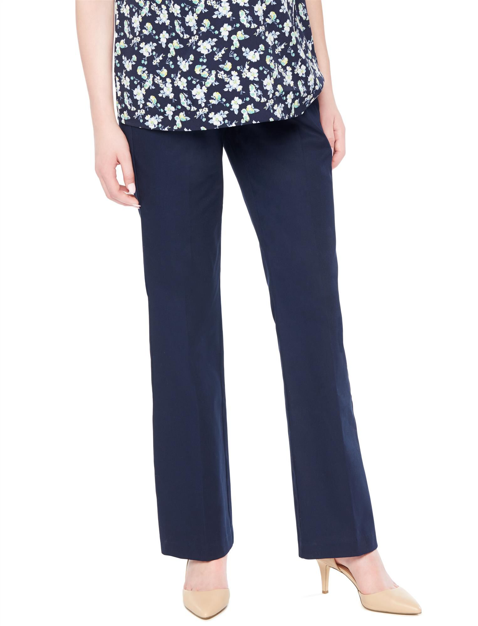 Secret Fit Belly Stretch Twill Boot Maternity Pants