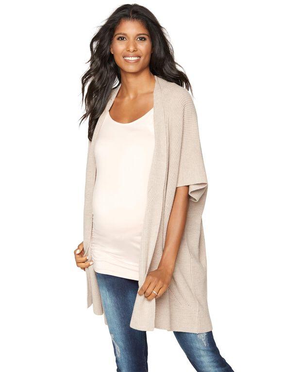 Tart Wrap Maternity Jacket, Oatmeal