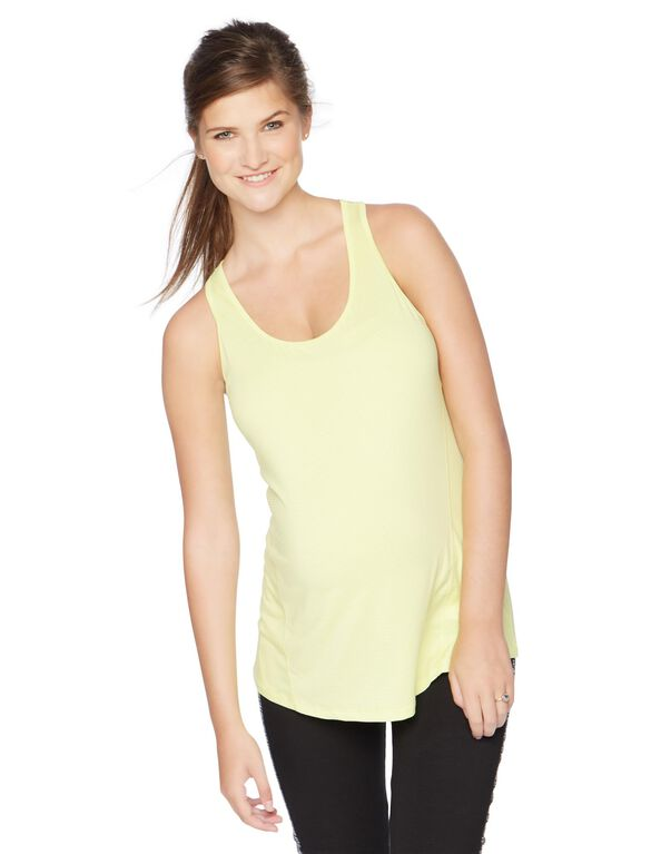 Racerback Maternity Tank Top, Citron