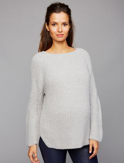 Pietro Brunelli Rib Knit Maternity Sweater, Grey