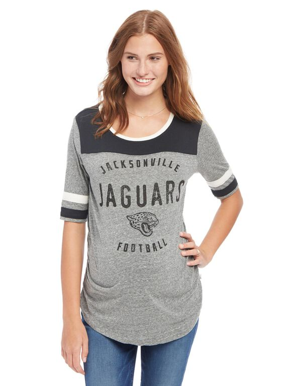 Jacksonville Jaguars NFL Elbow Sleeve Maternity Graphic Tee, Jaguars Green