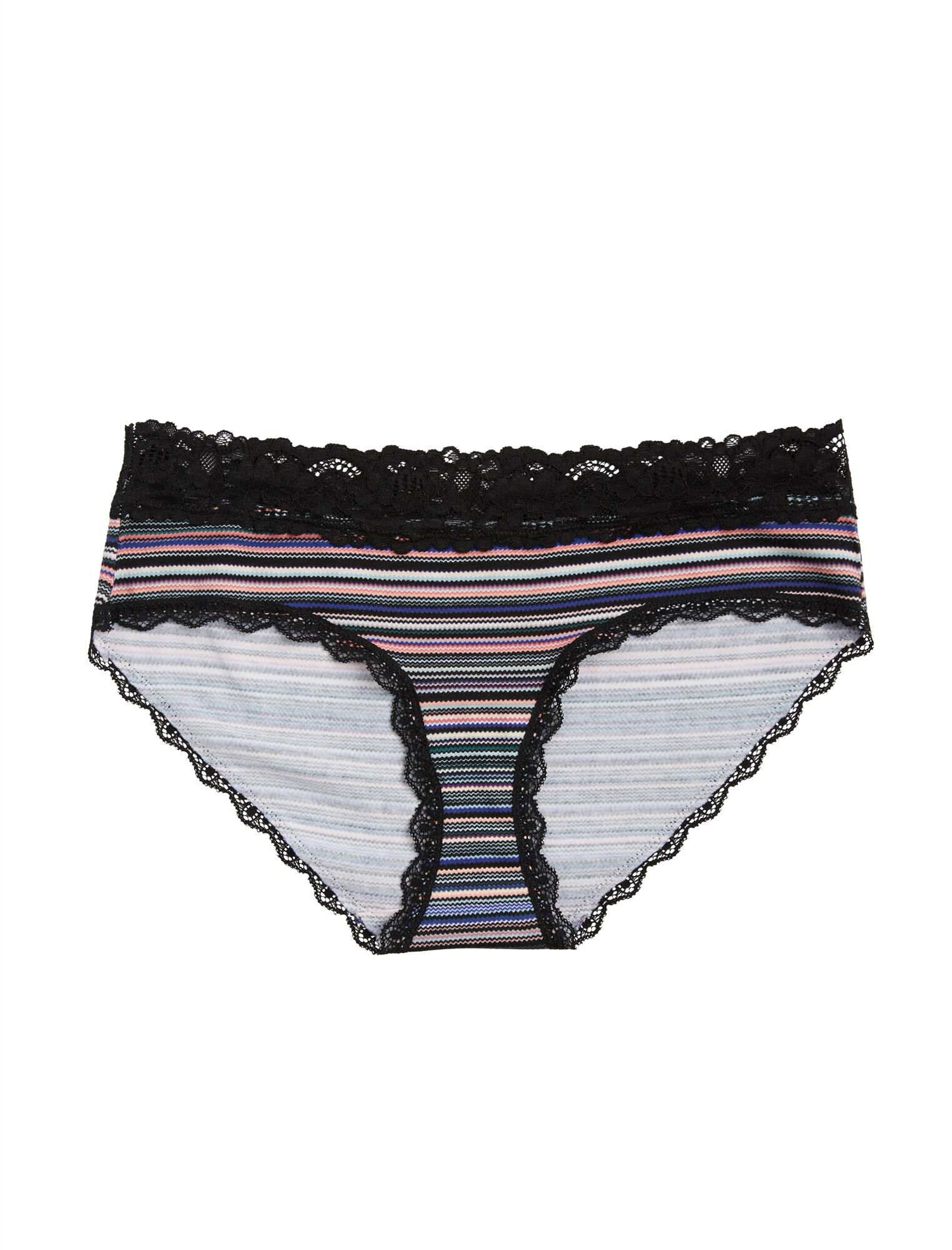 Jessica Simpson Maternity Hipster Panties (single)- Plum/Navy Stripe
