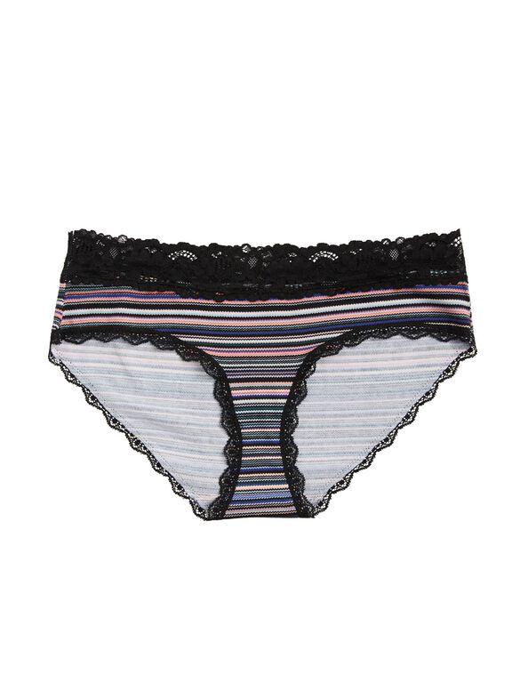 Jessica Simpson Maternity Hipster Panties (single)- Plum/Navy Stripe, Multi Stripe