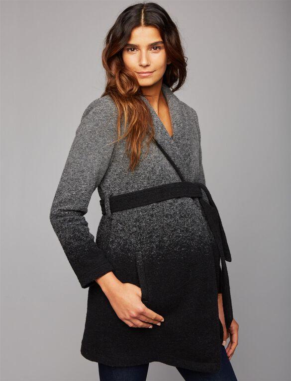 BB Dakota Ombre Maternity Jacket, Black Ombre