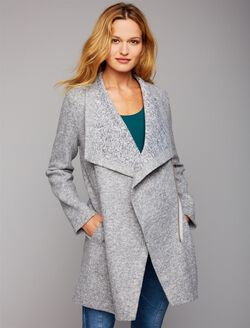 BB Dakota Drape Front Maternity Jacket, Light Grey