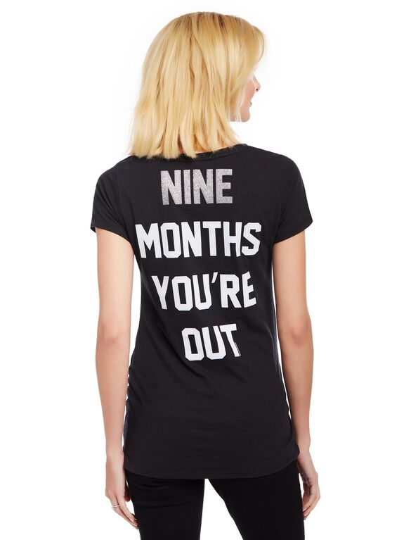 Chicago White Sox MLB You're Out Maternity Tee, White Sox Black